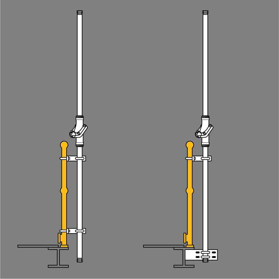 Swivelpole™ S-Series stanchion mounted lowering pole (NEC)