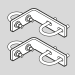 Swivelpole™ mounting brackets