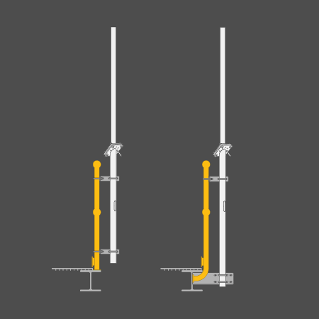 Swivelpole™ S-Series stanchion mounted lowering pole (IEC)