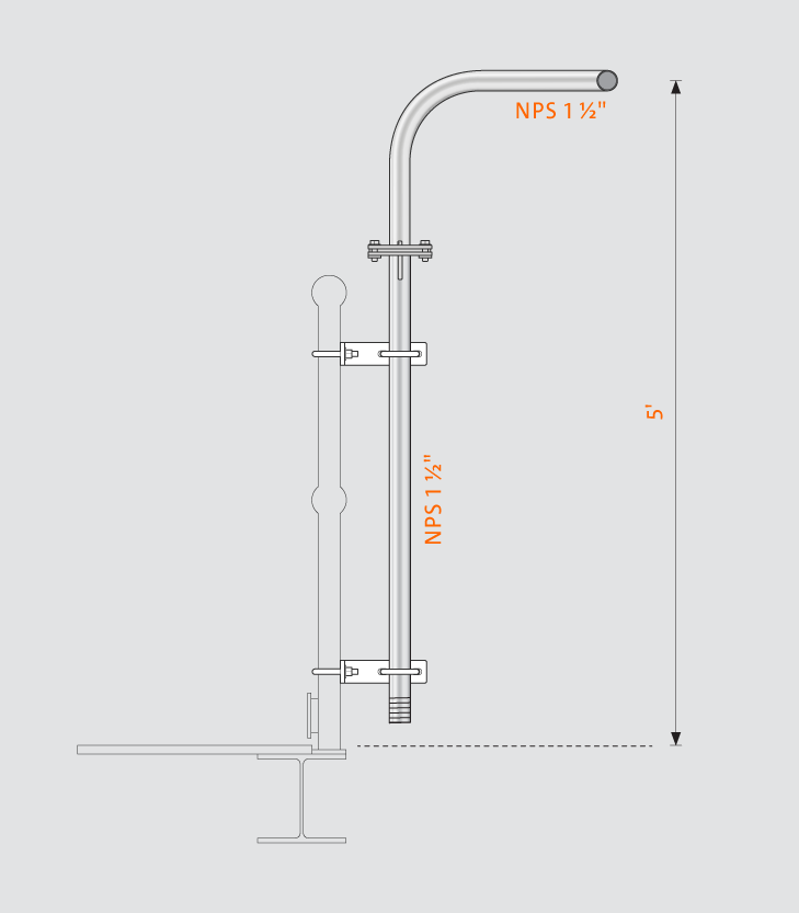 Swivelpole™ H3 product drawing
