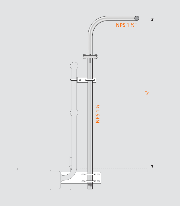 Swivelpole™ H4 product drawing