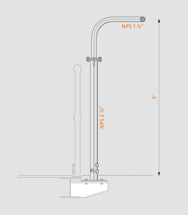Swivelpole™ H6 product drawing