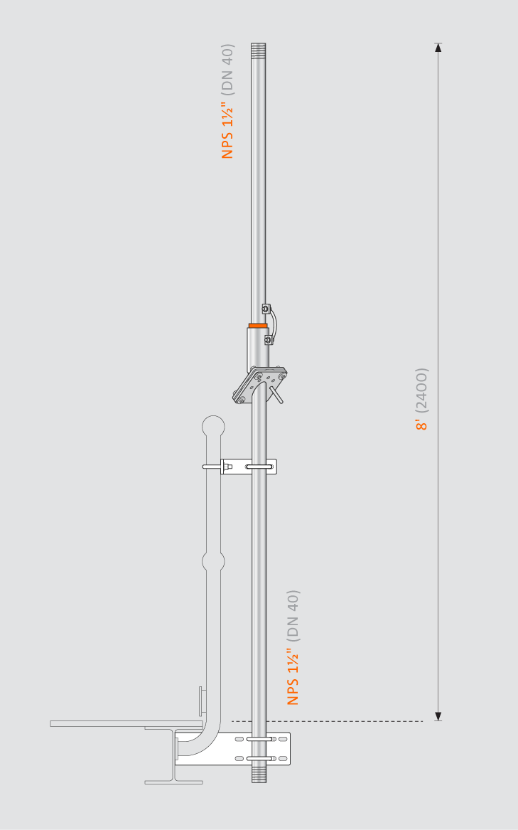 Swivelpole™ H12 product drawing